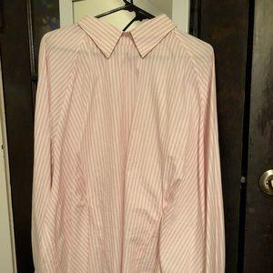 ASOS curve stripe shirt with corset back